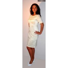 Balto tinkliuko proginė suknelė, PSTMB06