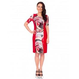 Suknelė su raudonais šonais VSRSMR02
