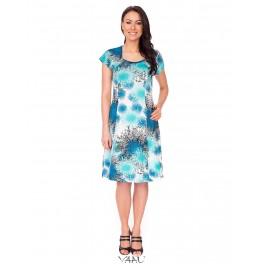 Mėlyna smarkiai platėjanti suknelė VS6MMA10