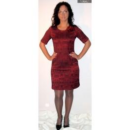 Raudona su gėle proginė suknelė, PSŽMR07
