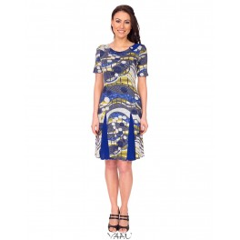 Platėjanti suknelė su intarpais VSKLMM01