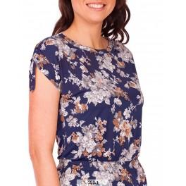 Mėlyna suknelė kimono rankovėmis VSKNMM01
