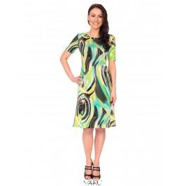 Žalių atspalvių platėjanti suknelė VSP02MMA08