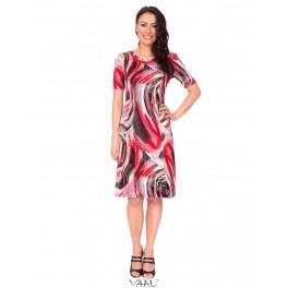 Rausvų atspalvių platėjanti suknelė VSP02MMA09