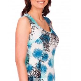 Mėlynų atspalvių suknelė su petnešomis VSA1MM01