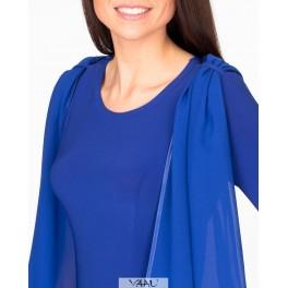 Mėlyna su skara proginė suknelė, PSP1MM02