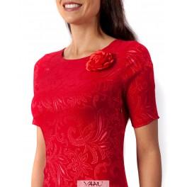 Raudona proginė suknelė PSŽMR02