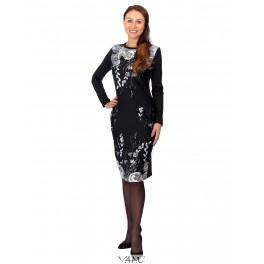 Gėlėta suknelė su kišenėmis SR02MP07