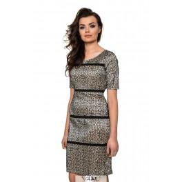 Proginė suknelė linijomis PSTMKR01