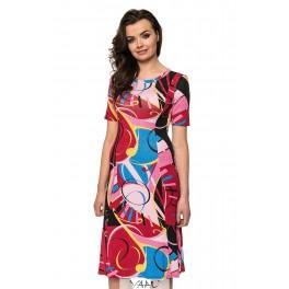 Platėjanti suknelė su rankovėlėmis VSP02MR02