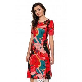 Platėjanti suknelė su rankovėlėmis VSP02MR03