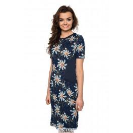 Mėlyna suknelė su kišenėmis VSR02MM02