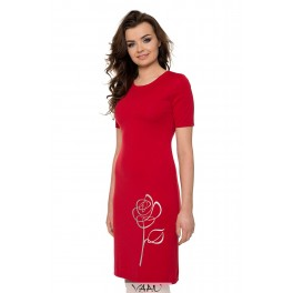 Raudona suknelė su rože VSTSRS07