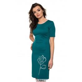 Žalia suknelė su rože VSTSRS08