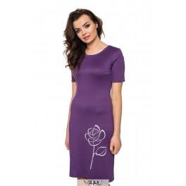 Violetinė suknelė su rože VSTSRS10