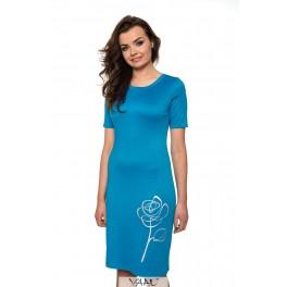 Mėlyna suknelė su rože VSTSRS12