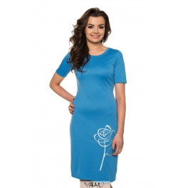 Žydra suknelė su rože VSTSRS14