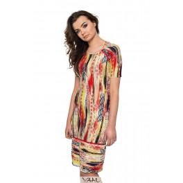 Ryškiaspalvė suknelė reglano rankovėmis VSV3MG01