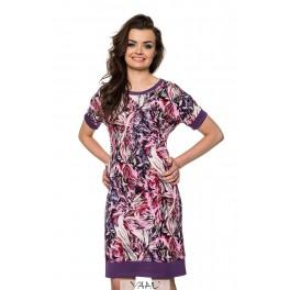 Rožinė suknelė kimono rankovėmis VSŽ4MR01