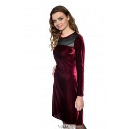Bordinė aksomo suknelė PSAMR01
