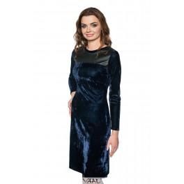 Mėlyna aksomo suknelė PSAMM01