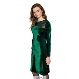 Žalia aksomo suknelė PSAMŽ01