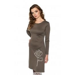 Ruda suknelė su rože STSRD01