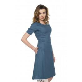 Mėlyna medvilnės suknelė VSV8MM01