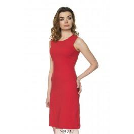 Raudona medvilnės suknelė be rankovių VSSMR05