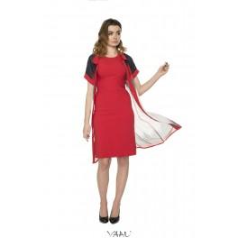 Raudonos suknelės ir šifono komplektas PSKO1MR01