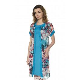 Mėlynos suknelės ir šifono komplektas PSKO1MM01