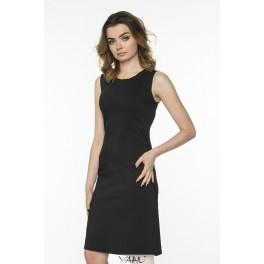 Juoda elegantiška suknelė be rankovių VSSMJ01