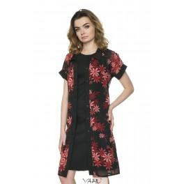 Ilga gėlėta šifono suknelė - tunika PS1MMA04
