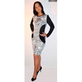 Pilka su kišenėmis suknelė, SRO2MP01