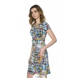 Marga suknelė dekoruota krūtinės sritimi VS9MM01