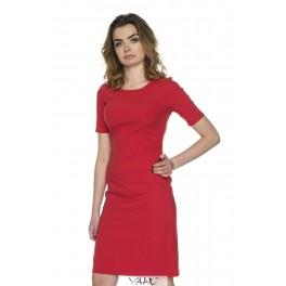 Raudona medvilnės suknelė VSSMR06
