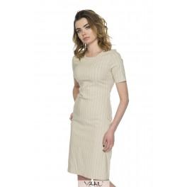 Kreminė linijomis suknelė VSSMKR04