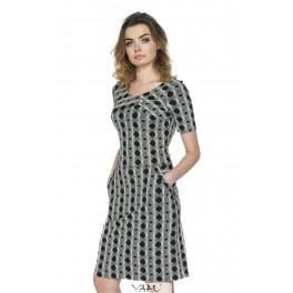 Juoda suknelė su kišenėmis VSV10MJ01