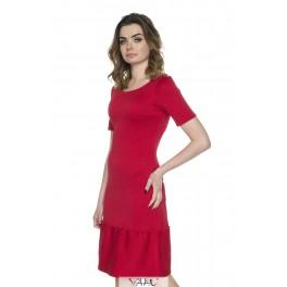 Raudona suknelė plačia apačia PSV11R01