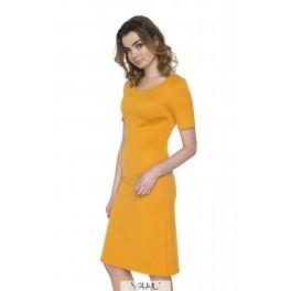 Proginė tiesi oranžinė suknelė PSSMO02