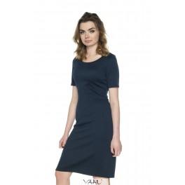 Mėlyna proginė tiesi suknelė PSSMM09