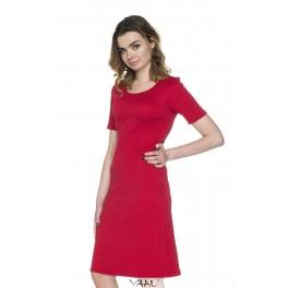 Raudona proginė tiesi suknelė PSSMR04