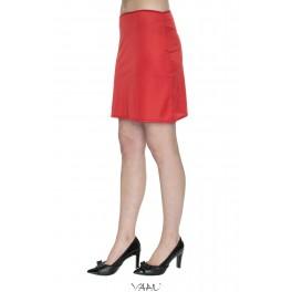 Raudonas apatinis sijonas ASMR01