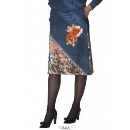 Margas sijonas su kišenėmis Si3MM01