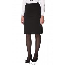 Juodas klasikinis trikotažo sijonas SiSMJ02