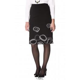 Juodas sijonas su burbulais SiSMJ01