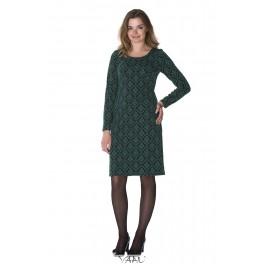 Žalia iškilaus rašto suknelė SSMŽ03