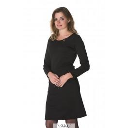 Juoda suknele dekoruota sygytėmis SV10MJ01