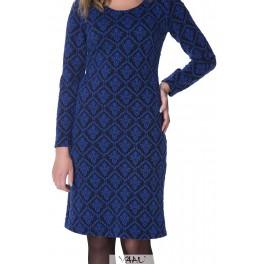 Mėlyna iškilaus rašto suknelė SSMM15