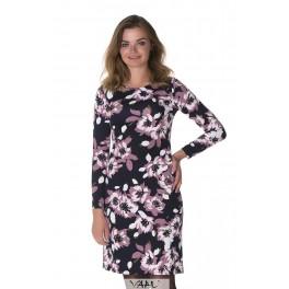 Violetinė gėlėta suknelė SSMV01